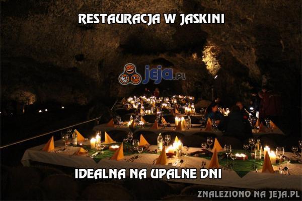 Restauracja w jaskini