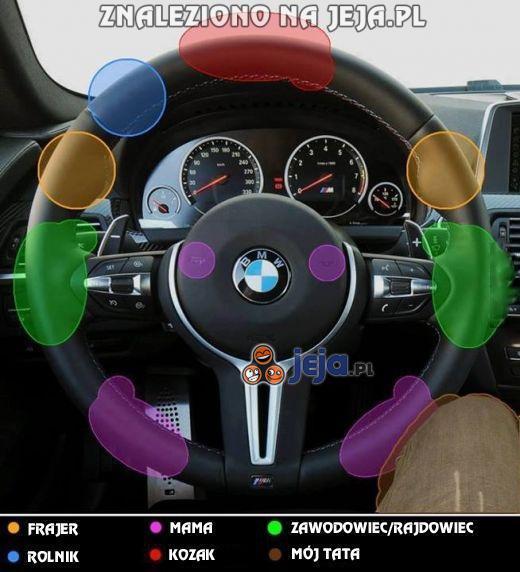 Sposób trzymania kierownicy - to ma znaczenie
