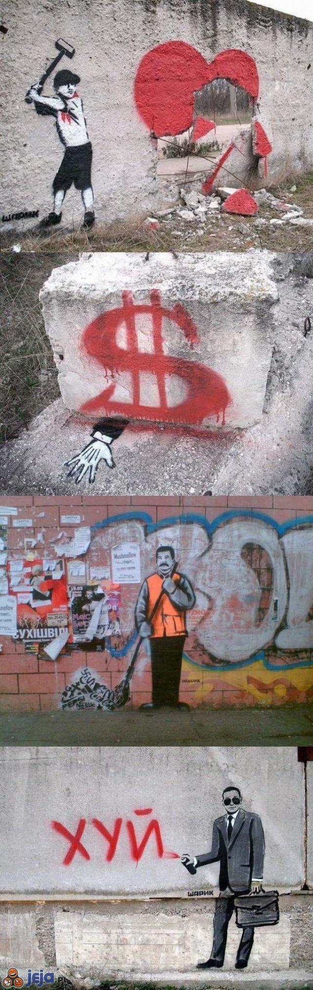 Ciekawe graffiti na Ukrainie