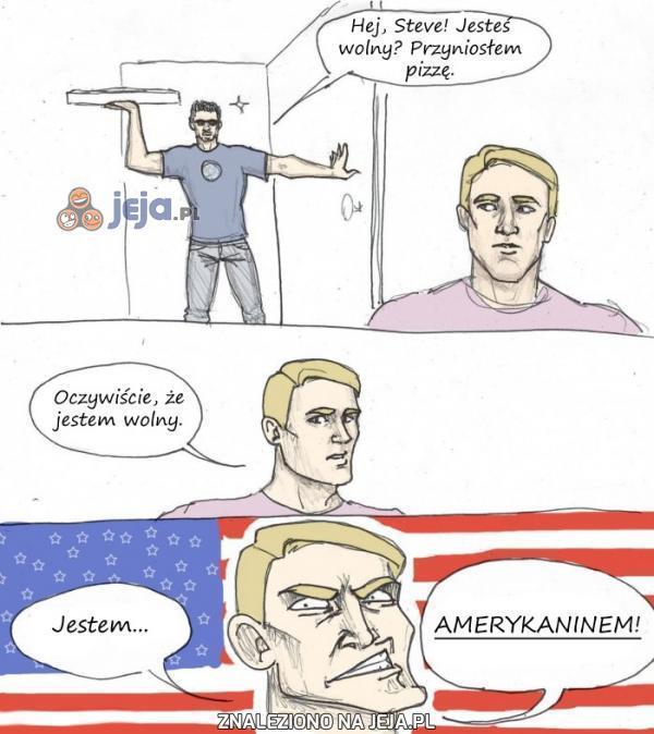 Kapitan Ameryka zawsze jest wolny