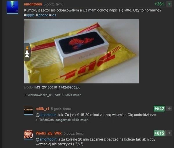 Produkty z Appla takie są