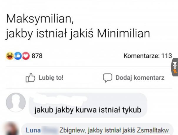 Znacie jeszcze jakieś odwrócone wersje imion?