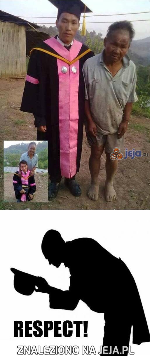 Ojciec poświęcił wszystkie swoje pieniądze, żeby syn skończył szkołę