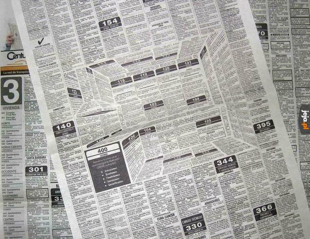Ukryty przekaz w gazecie
