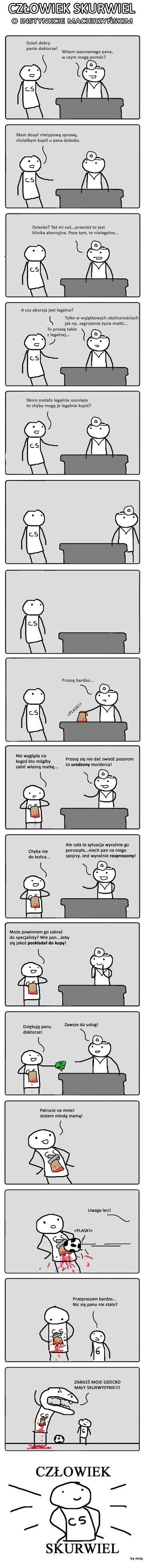 Człowiek Skurwiel - O Instynkcie Macierzyńskim