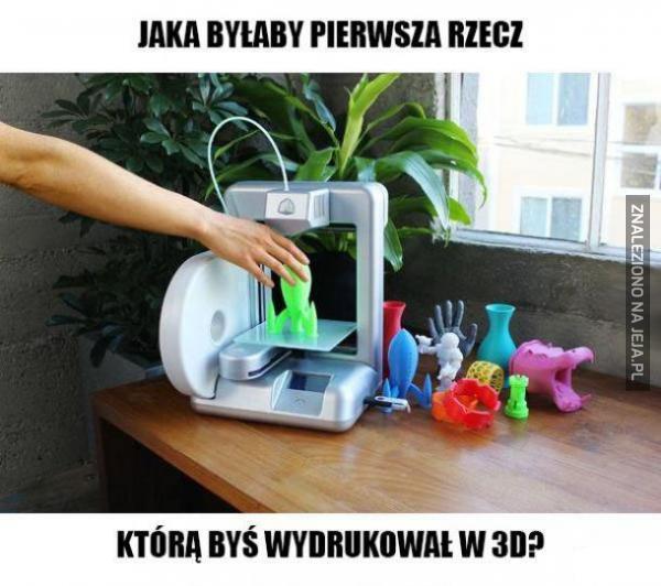 Jaka byłaby pierwsza rzecz, którą byś wydrukował w 3D