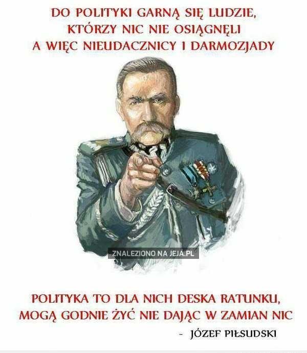 Piłsudski o politykach