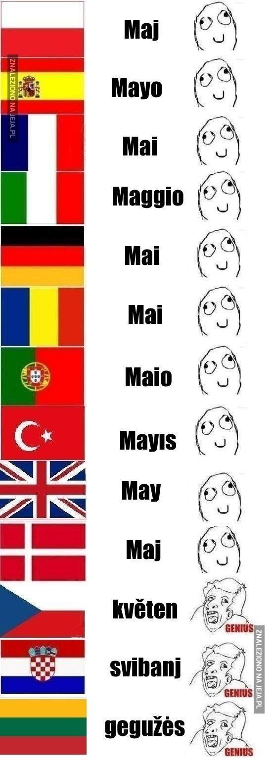 Maj w innych językach