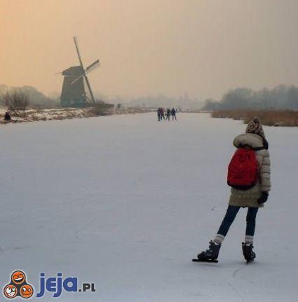 """""""Droga"""" do szkoły w  Holandii"""