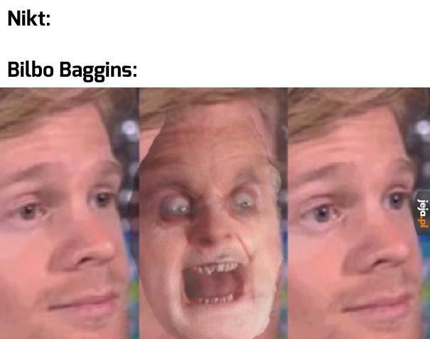 Bilbo w Drużynie Pierścienia jest straszny