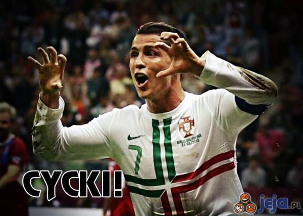 Ronaldo tuż po strzeleniu gola