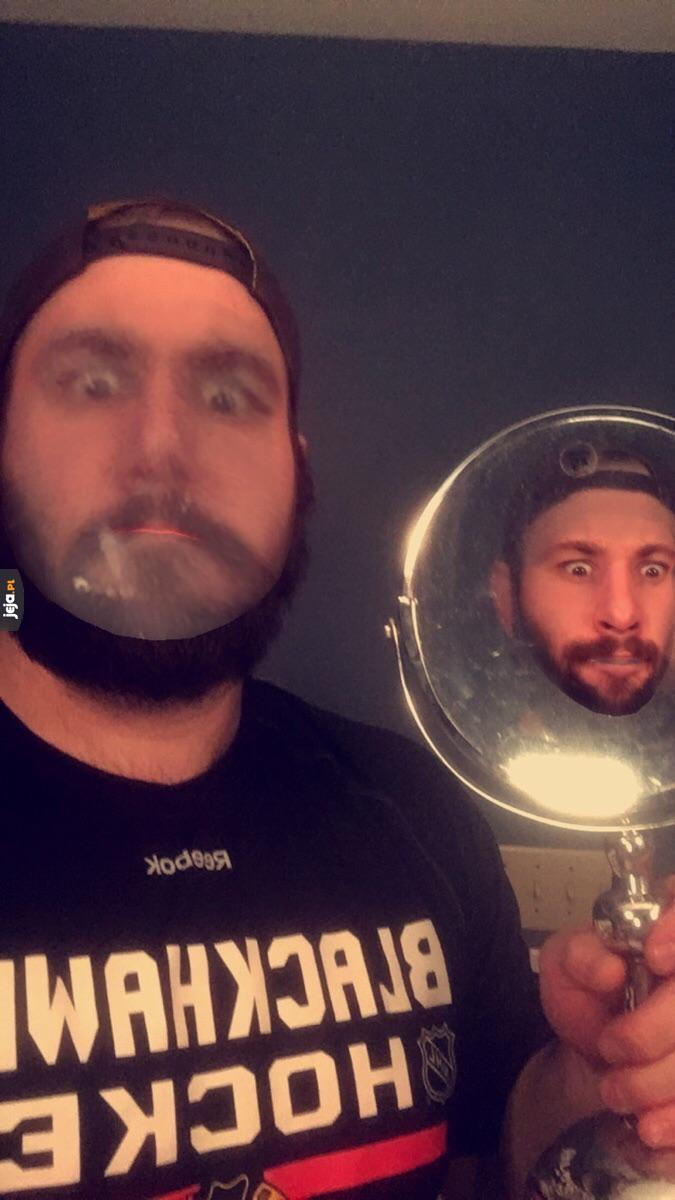 Zamiana twarzy z samym sobą