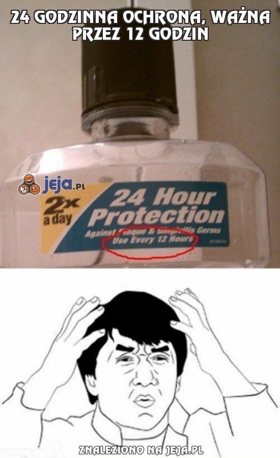 24 godzinna ochrona, ważna przez 12 godzin