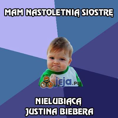 Mam nastoletnią siostrę nielubiącą Justina Biebera