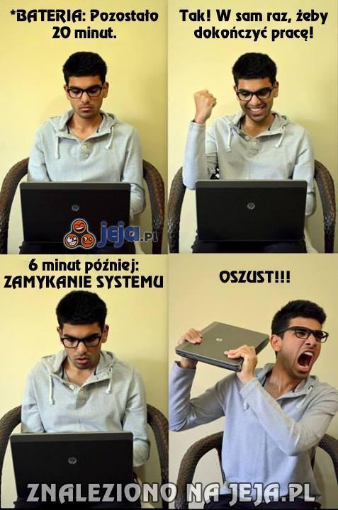 Ach, te laptopy...