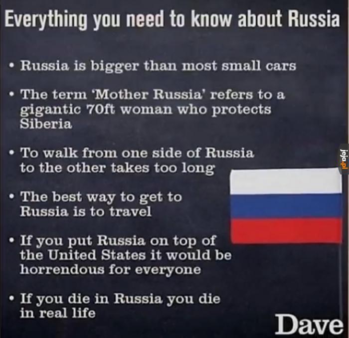 Dave przedstawia ciekawostki o Rosji