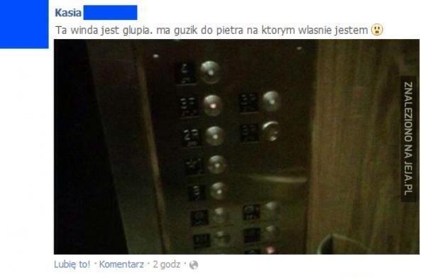 To na pewno winda jest głupia?