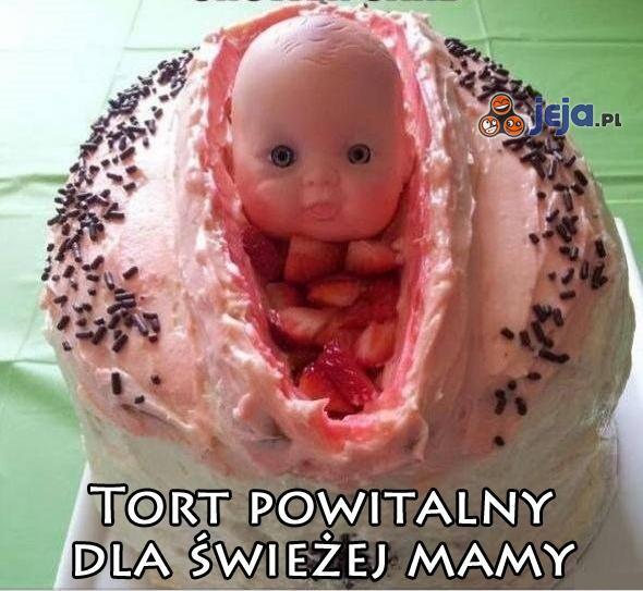 Tort powitalny dla swieżej mamy