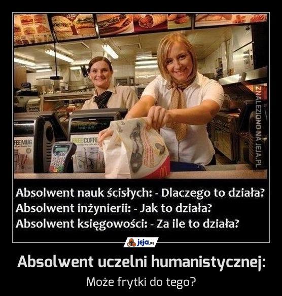 Absolwent uczelni humanistycznej: