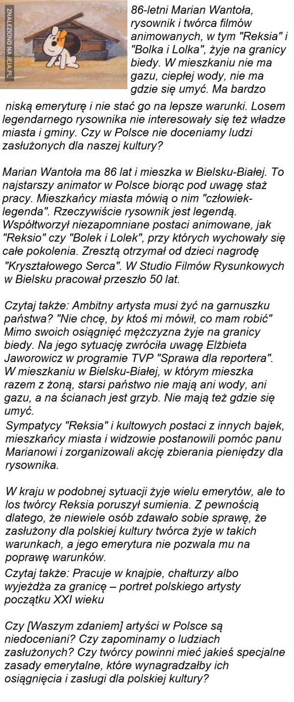 "Kochany twórca ""Reksia"""
