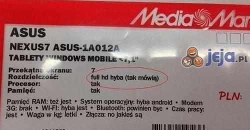 """""""Full HD"""" według pracownika sklepu"""