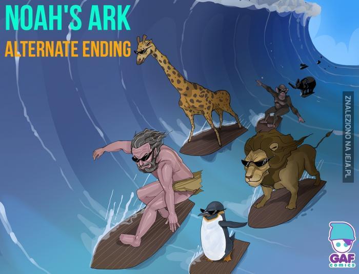 Arka Noego na fali