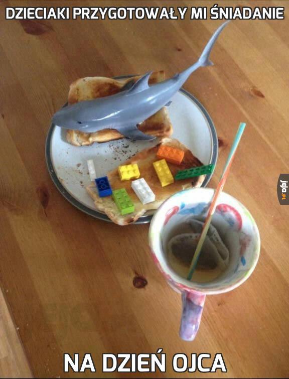Dzieciaki przygotowały mi śniadanie