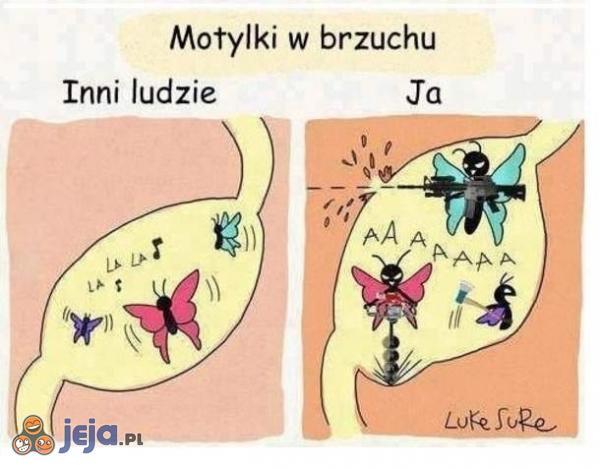 Motylki w brzuchu