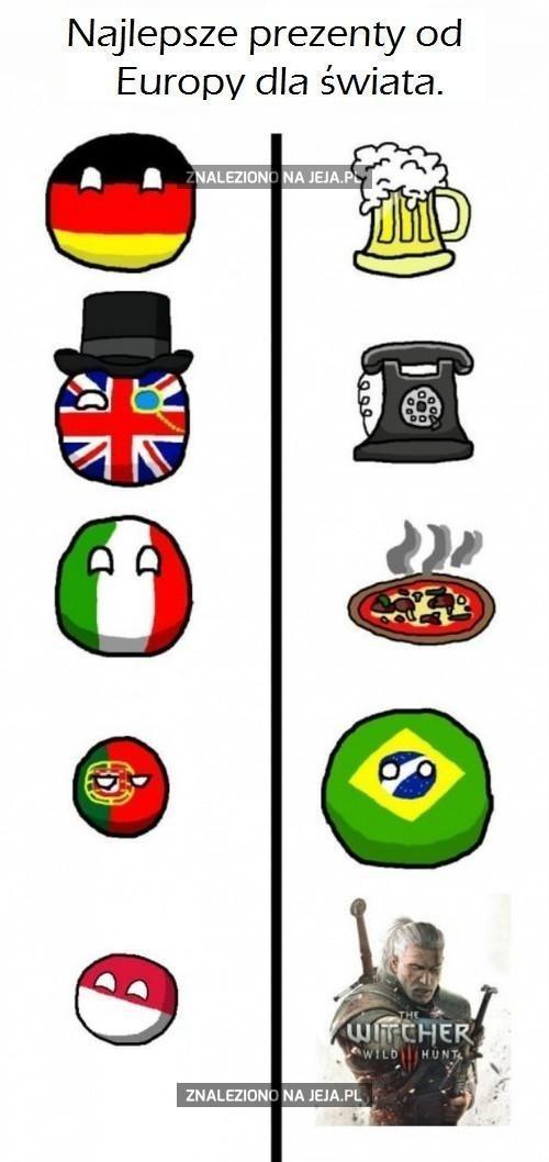 Prezenty od Europy dla świata