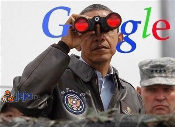 Obama patrzy