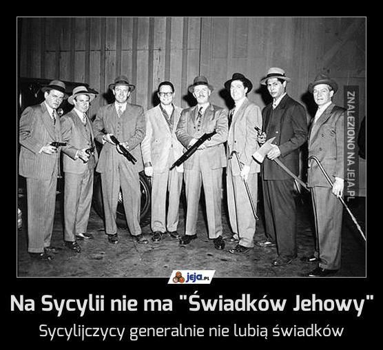 """Na Sycylii nie ma """"Świadków Jehowy"""""""