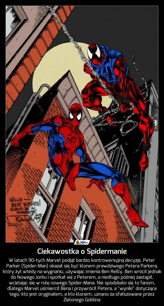 Ciekawostka o Spidermanie
