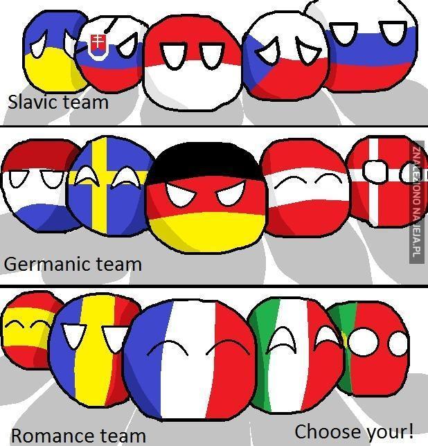 Wybierz swoją drużynę!