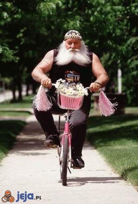 Różowy rowerek