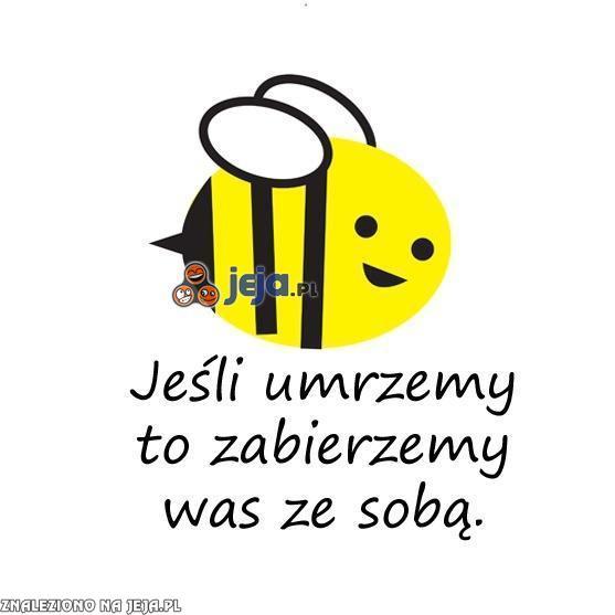 Pszczoły wcale nie żartują...