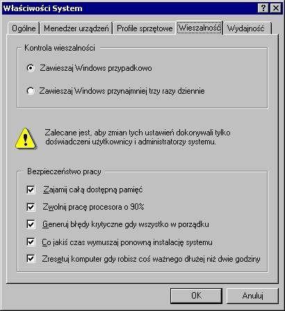 Zawieszaj Windowsa