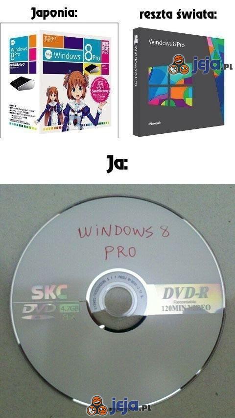Opakowania Windowsa 8