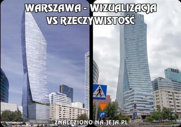 Warszawa - wizualizacja vs rzeczywistość