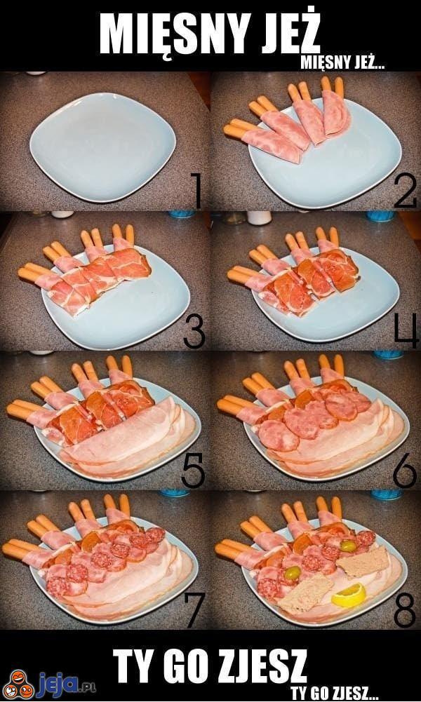Jak przygotować mięsnego jeża?