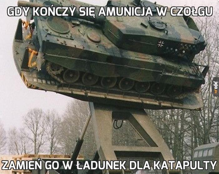 Gdy kończy się amunicja w czołgu