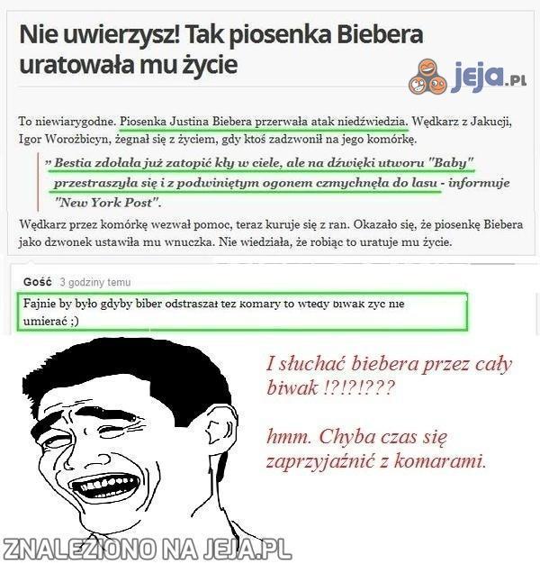 Biwakowanie z Bieberem