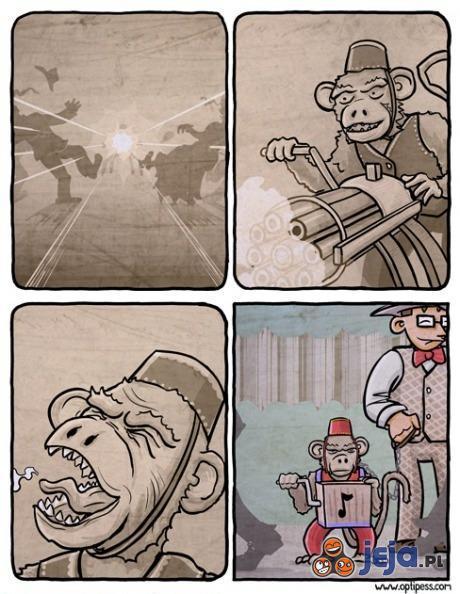 Złowieszcze myśli małpki cyrkowej