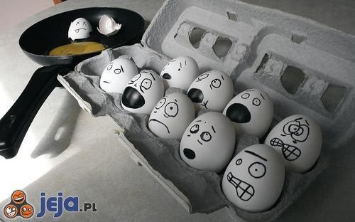 Przerażone jajka