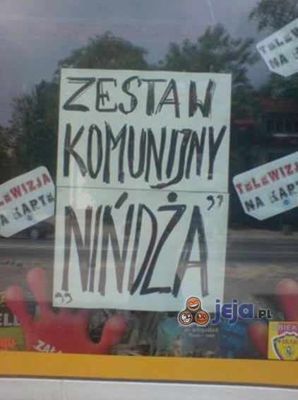 """Zestaw komunijny """"Nińdża""""!"""