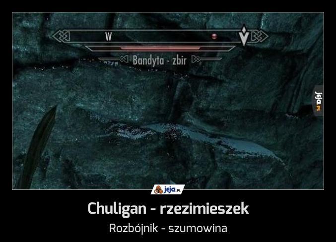 Chuligan - rzezimieszek