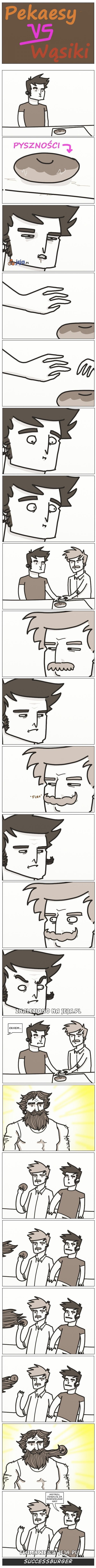 Pekaesy kontra wąsiki
