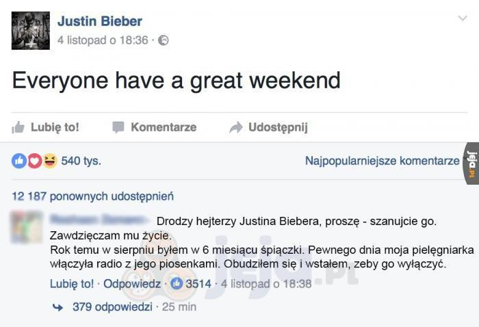 Bieber czyni cuda