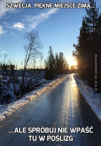 Szwecja, piękne miejsce zimą...