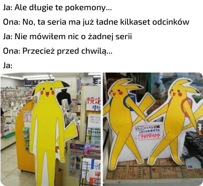 Czy mogę zainteresować państwa długimi Pikachu?