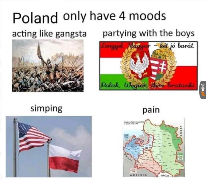 4 nastroje Polski